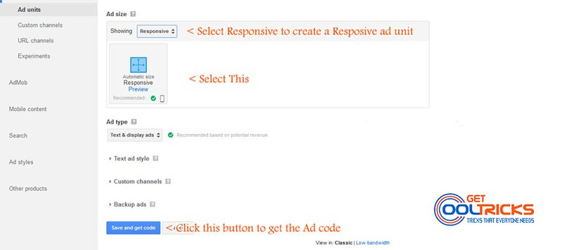Creating-Ad-unit-in-Google-Adsense-GetCoolTricks-4